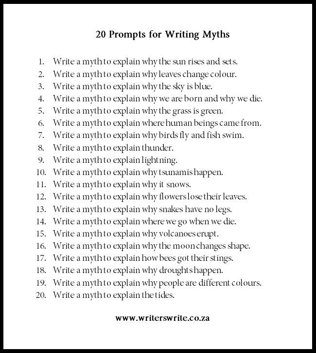 How to Write a Myth