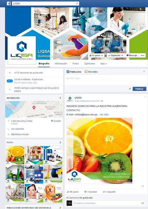 Diseño de Fanspage para nuestros amigos de LIQSA http://on.fb.me/1XXwZ5V