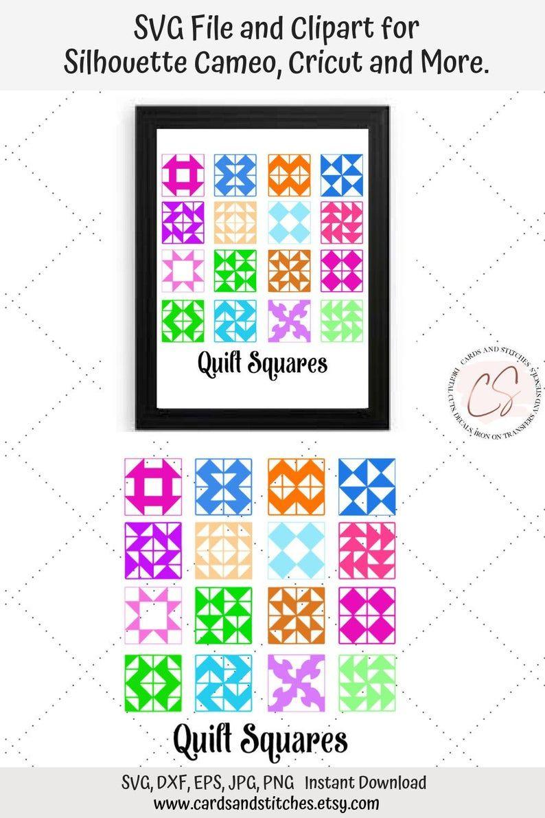 Quilt Squares Svg Quilting Svg Quilt Printable Art Etsy In 2020 Etsy Printable Art Square Quilt Square Card