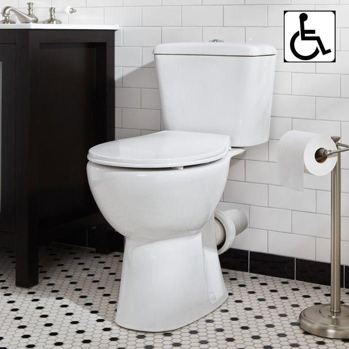 Elkinson Dual Flush European Rear Outlet Toilet Two Piece White Bathroom Toilet Bathroom Bidet Bathroom