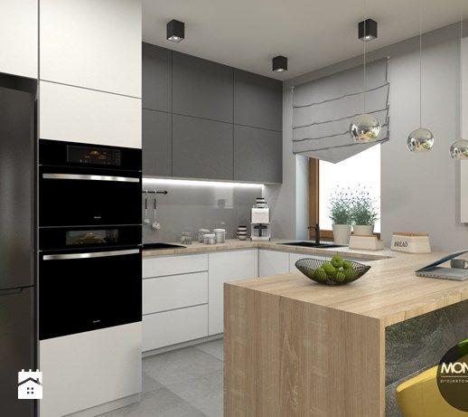 Aranzacje Wnetrz Kuchnia Kuchnia Z Wyspa Monostudio Przegladaj Dodawaj I Zapisuj Najlepsze Zdjec Interior Design Kitchen Kitchen Interior Kitchen Design
