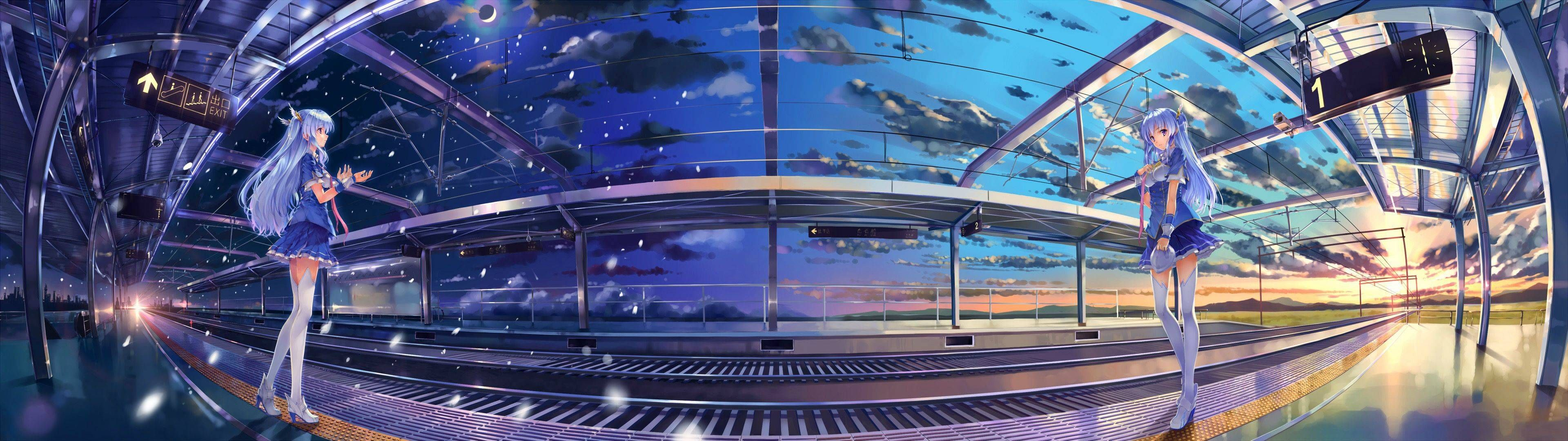 Pics Anime Dual Monitor Download Jpg 3840 1080 Dual Monitor Wallpaper Anime Wallpaper Hd Wallpaper