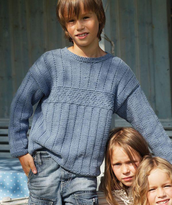 Child's Sweater With Textured Pattern   Free Schachenmayr Pattern