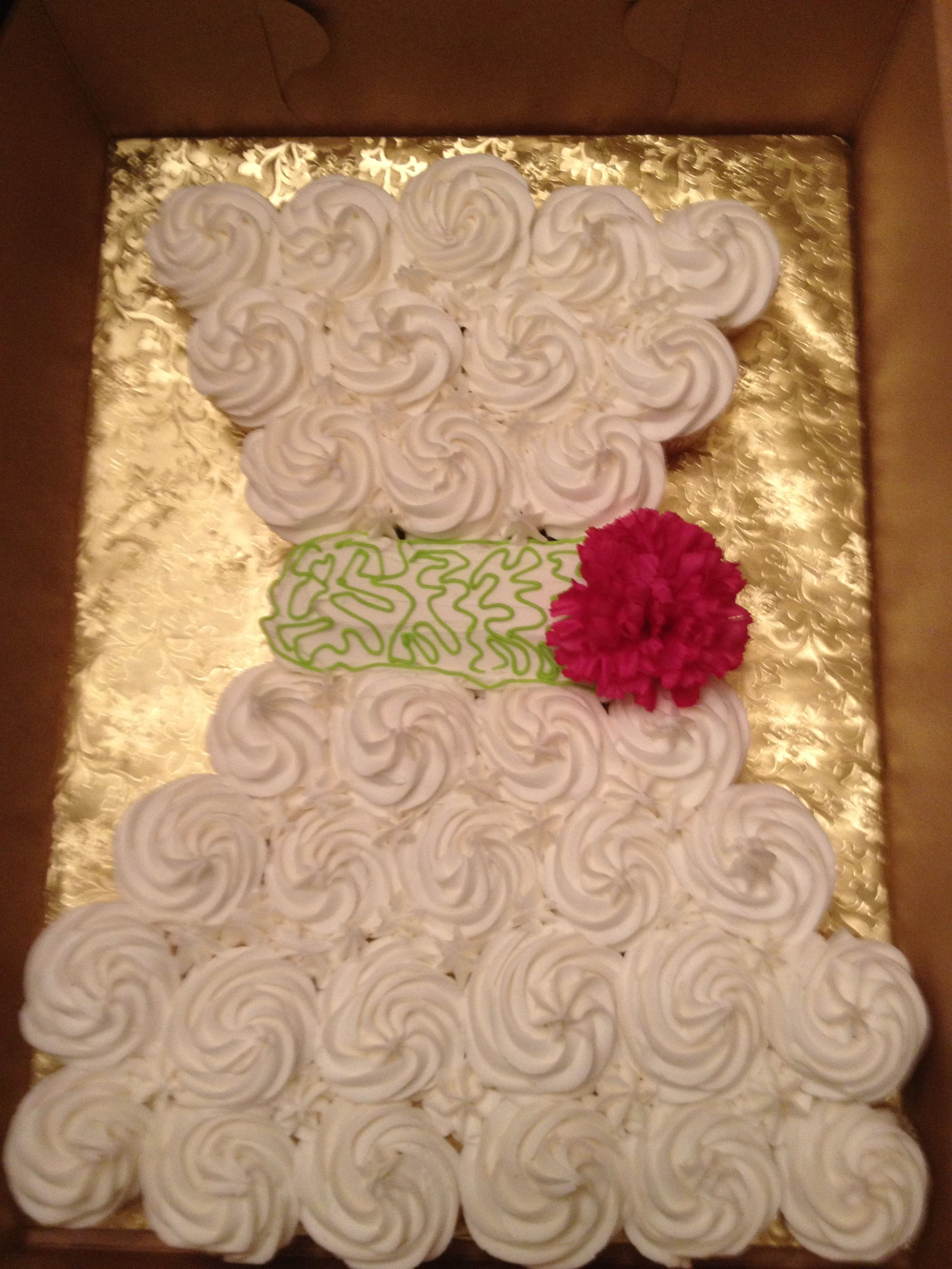 Wedding Dress Cupcake Cake Great For My Sisters Bridal Shower