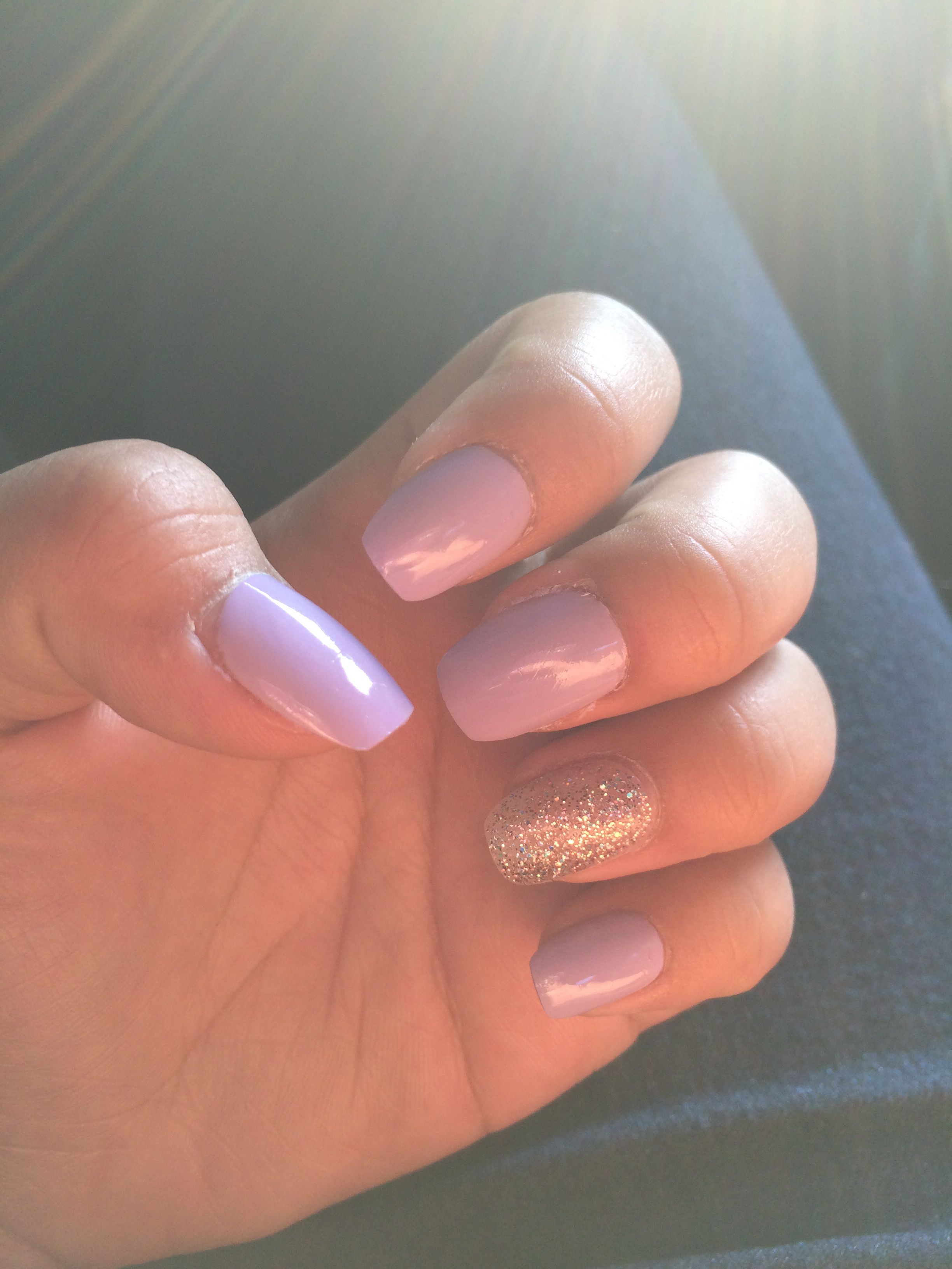 Easy Kiss Salon nail tips, glued, & filed. Before putting on the ...
