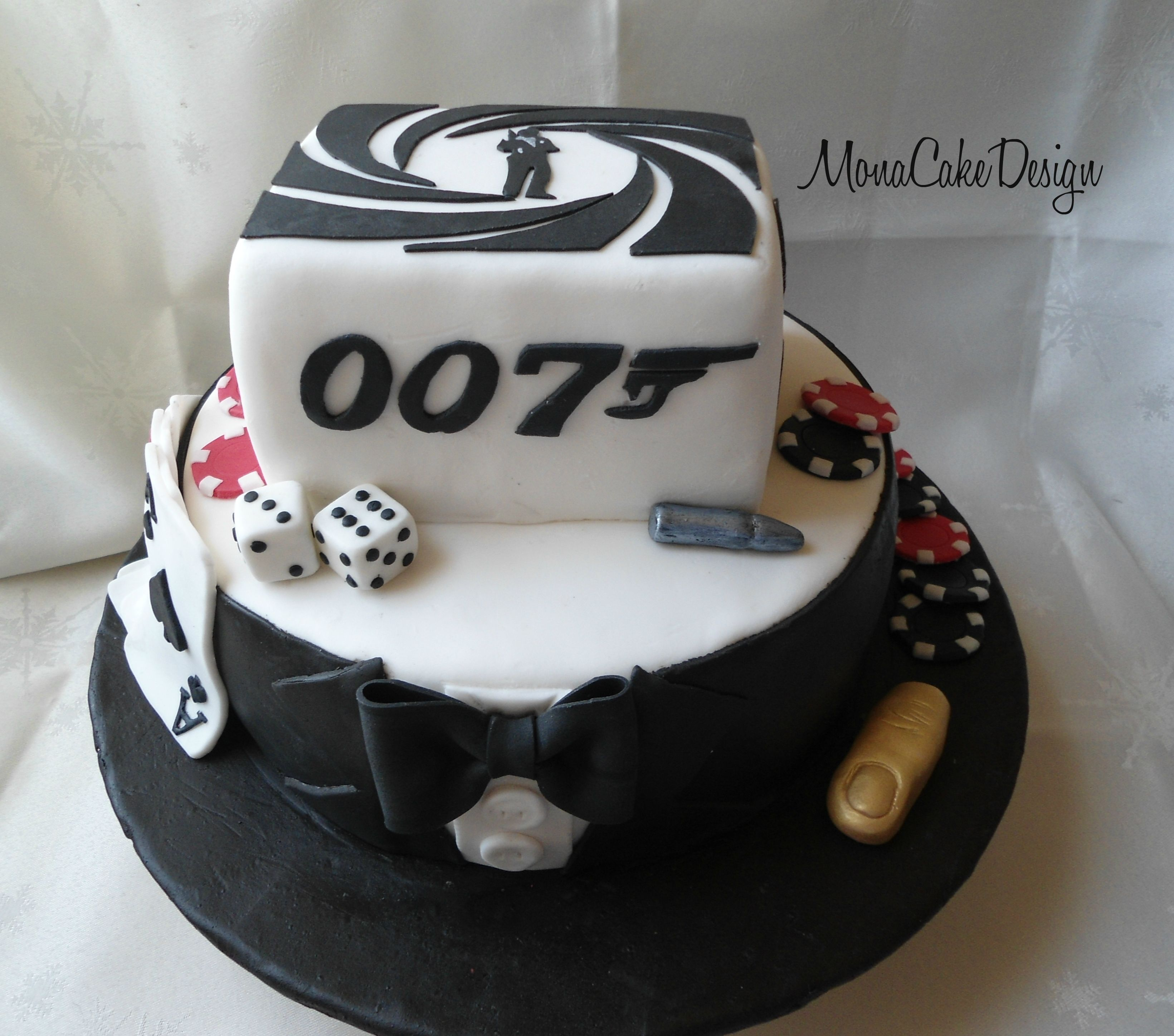 decoration gateau james bond