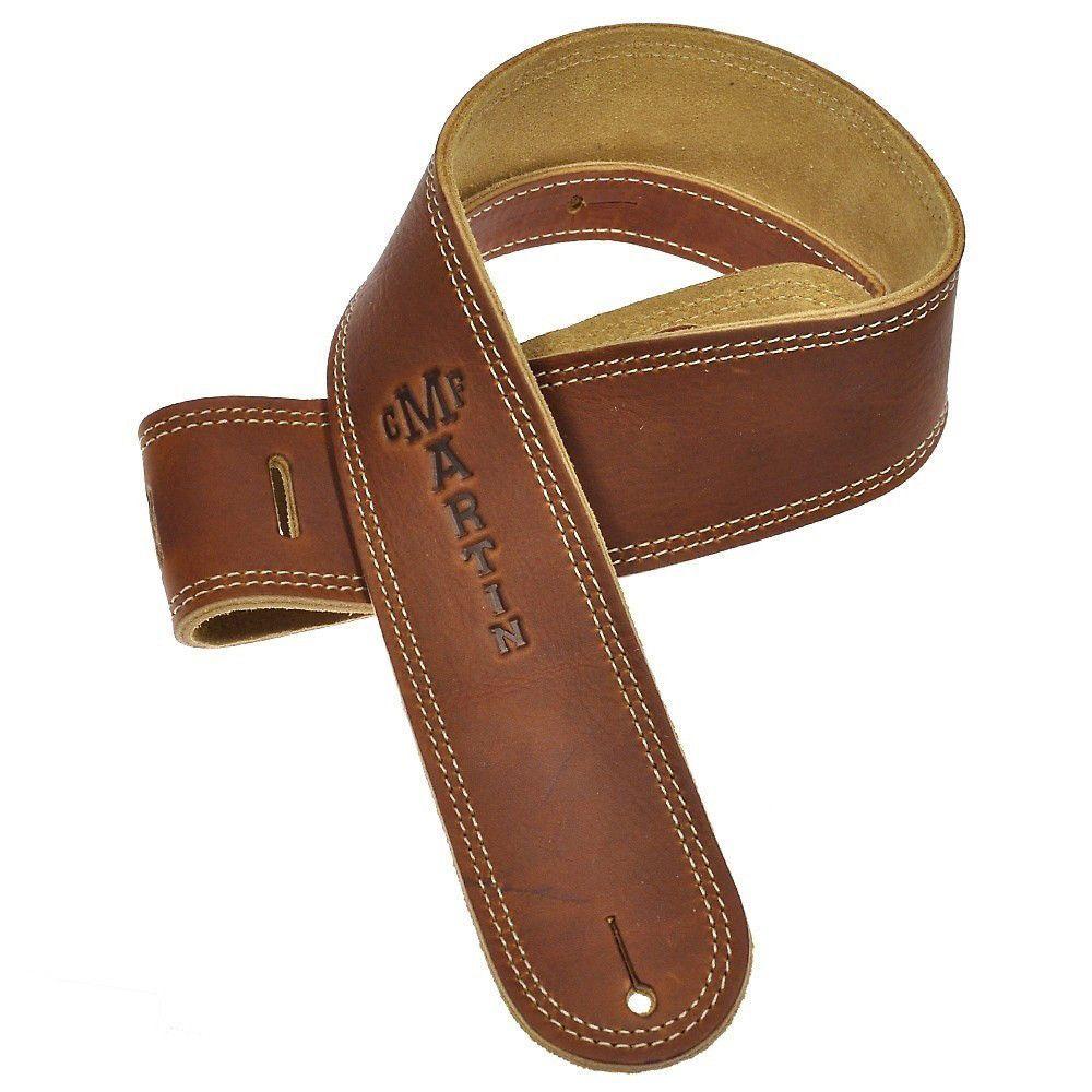 Martin Soft Baseball Leather Guitar Strap Brown Suede Leather Guitar Straps Guitar Strap Vintage Leather