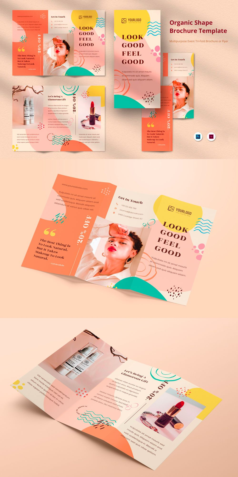 Creative Minimalist Abstract Organic Pattern Shape Business Brochure Trifold is elegant, modern, simple, minimalist and professional corporate business brochure or flyer template. Suitable for any kind of businesses, company, corporate and can be also used for any other publishing like annual report, promotions and company profile.