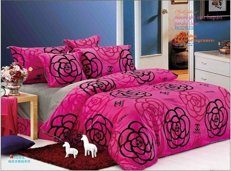 nur chanel g nstig chanel paris bettw sche billig gut preiswert king size seide baumwolle bed. Black Bedroom Furniture Sets. Home Design Ideas