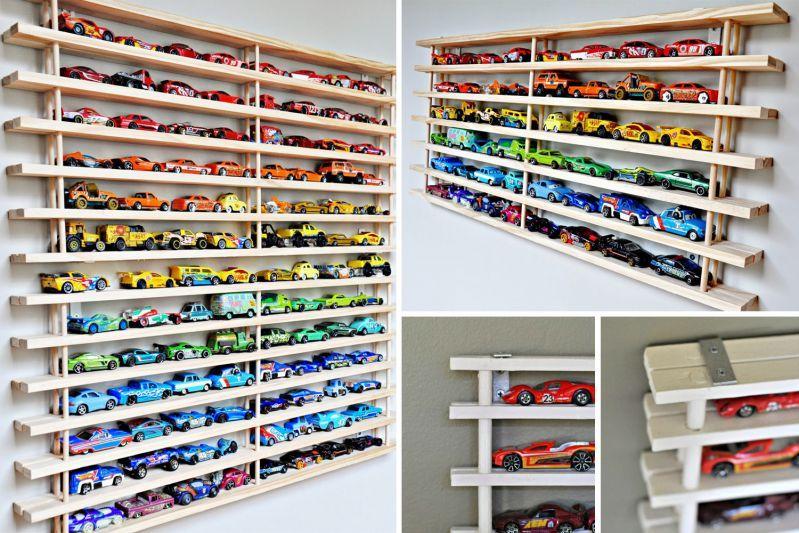 Id es de rangement pour les petites voitures pr les enfants rangement petites voitures et - Idee rangement chambre garcon ...