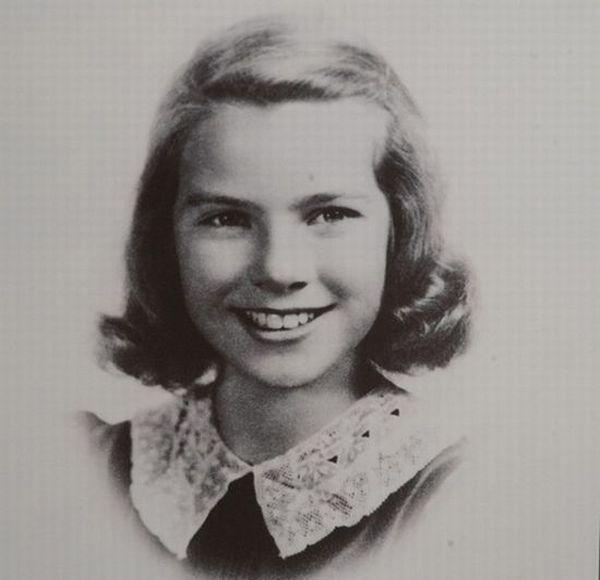 Grace Kelly as a school girl.```