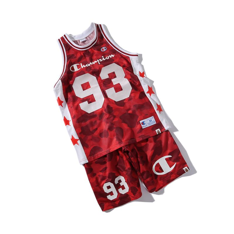 c211bbe71 CHAMPION APE BAPE STARS CASUAL BASKETBALL TANK TOP SET JERSEY #kyrieirving  #lakers #cavs