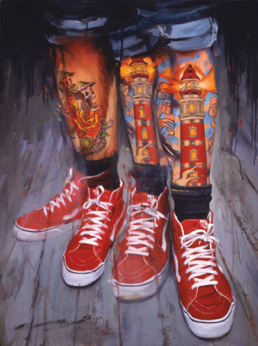 Tattoo Paintings by Shawn Barber