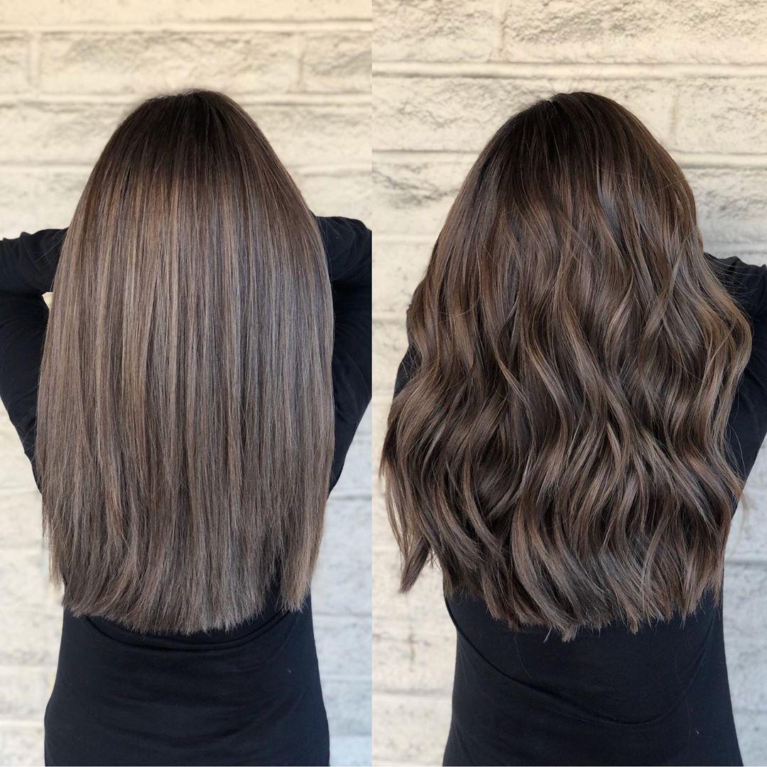 Top 9 in 2019 natural ash brunette 🌪🌪 Color by @andrewlovescolor
