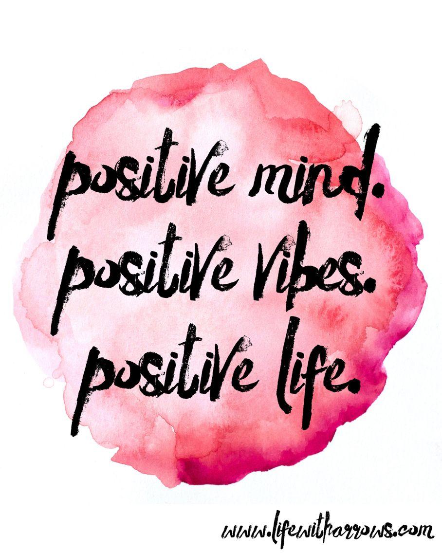Positive Mind Positive Vibes Positive Life My Life: Positive Mind. Positive Vibes. Positive Life.... Good