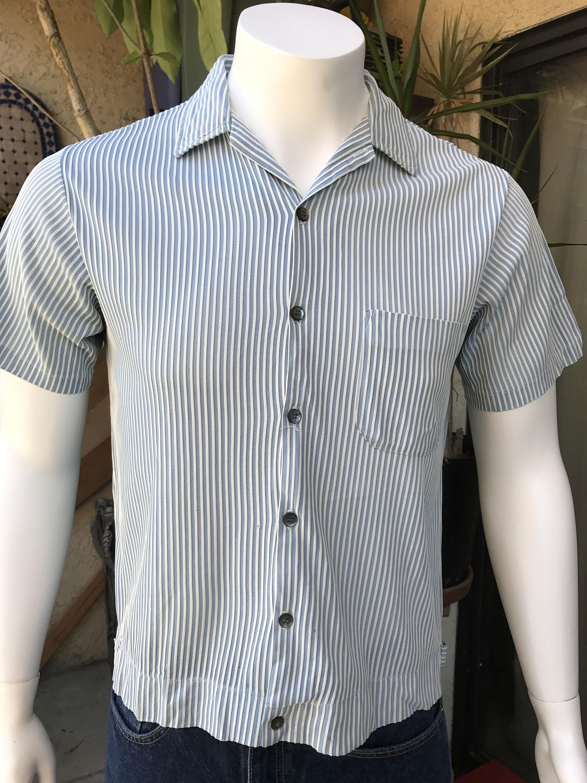 89b15963 JC Penney Vintage Men's Shirt-Jacket/ 1950's Vintage Penny's Towncraft Shirt/  Rockabilly Men's Shirt Jac Size M by SantaBarbaraShop on Etsy