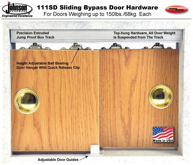 Johnson Hardware 111sd Sliding Bypass Door Hardware Door Hardware Sliding Door Hardware Sliding Doors