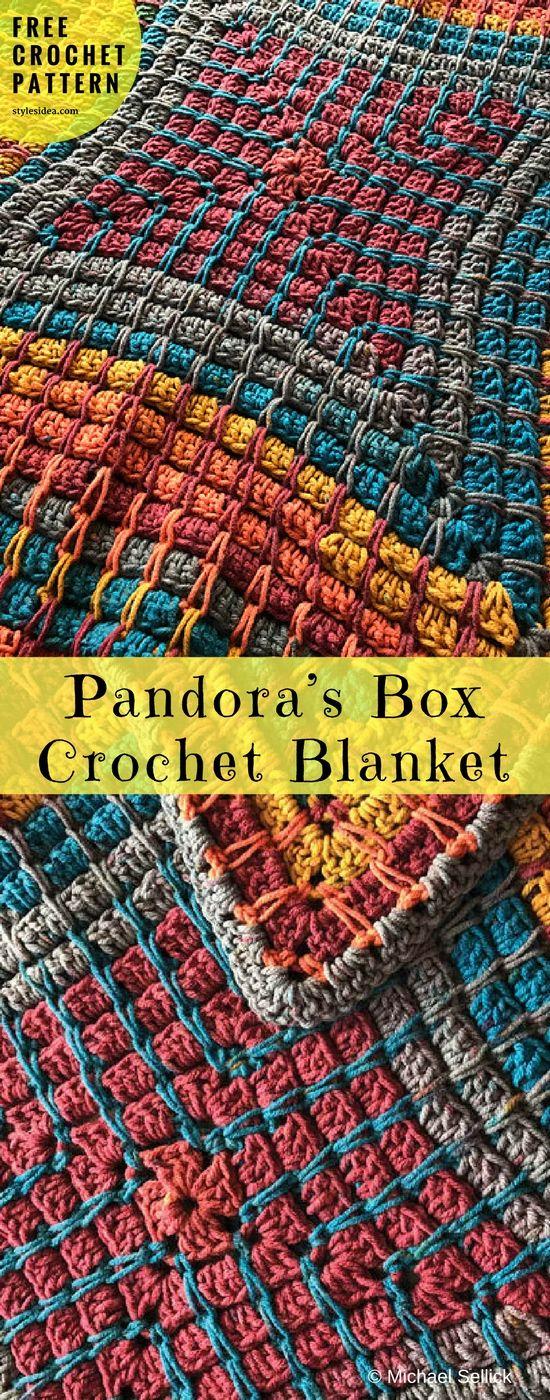 Pandoras Box Blanket Free Crochet Pattern Big Cakes Afghans And