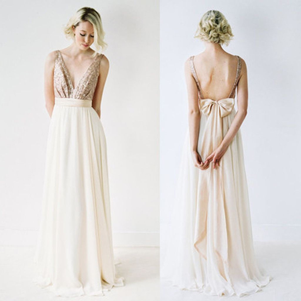 Off shoulder top sequin prom dress vneck junior pretty long