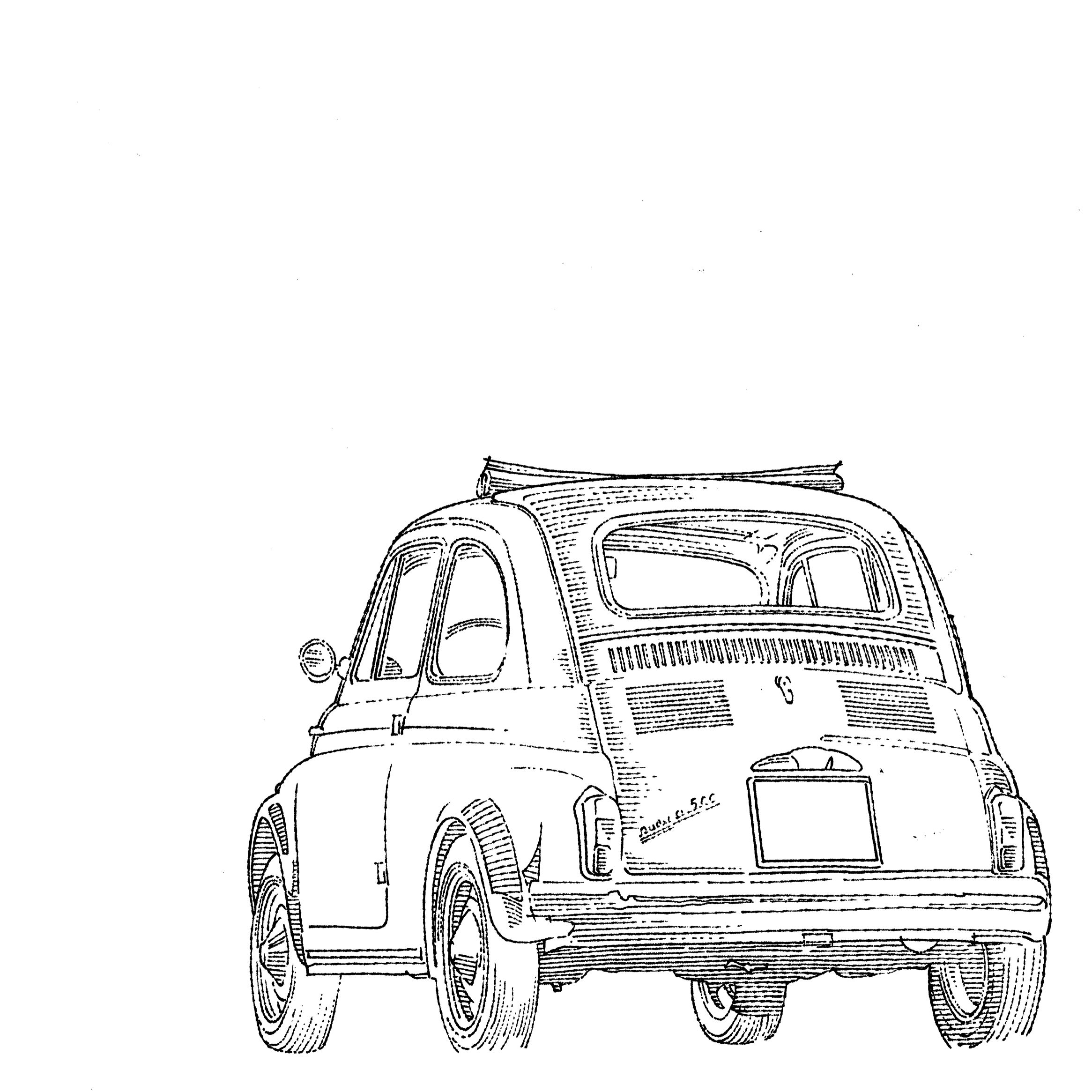 FIAT 500 NUOVA #line #art #character #design #model #