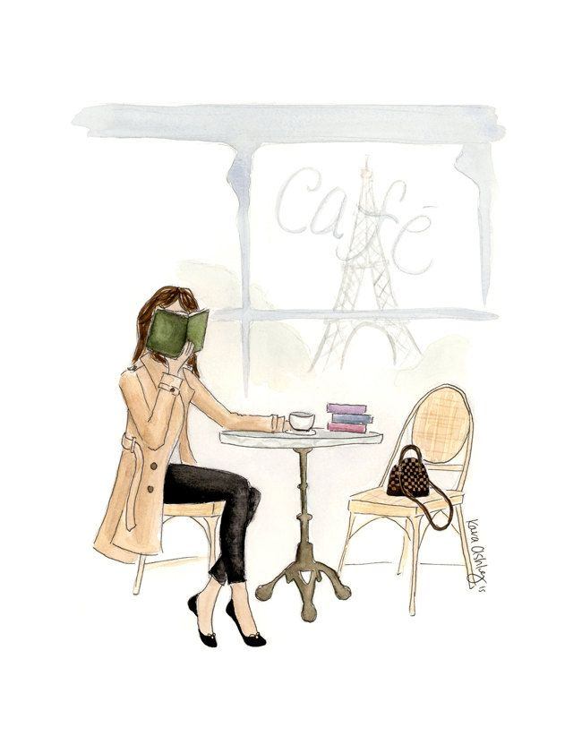 Suzanne the Parisian Bookworm by KaraEndres on Etsy