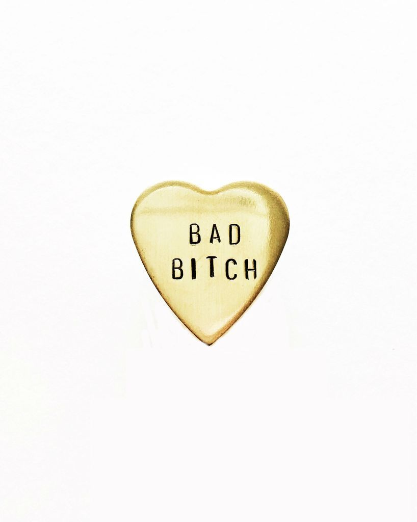 Bad B Tch Handstamped Heart Pin In 2020 Iphone Wallpaper Cute