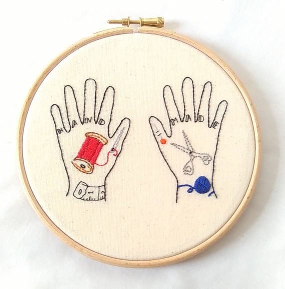 Embroidery Hoop Art  tatouage