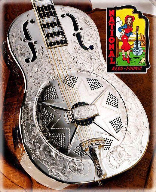 Custom Engraved National Guitar