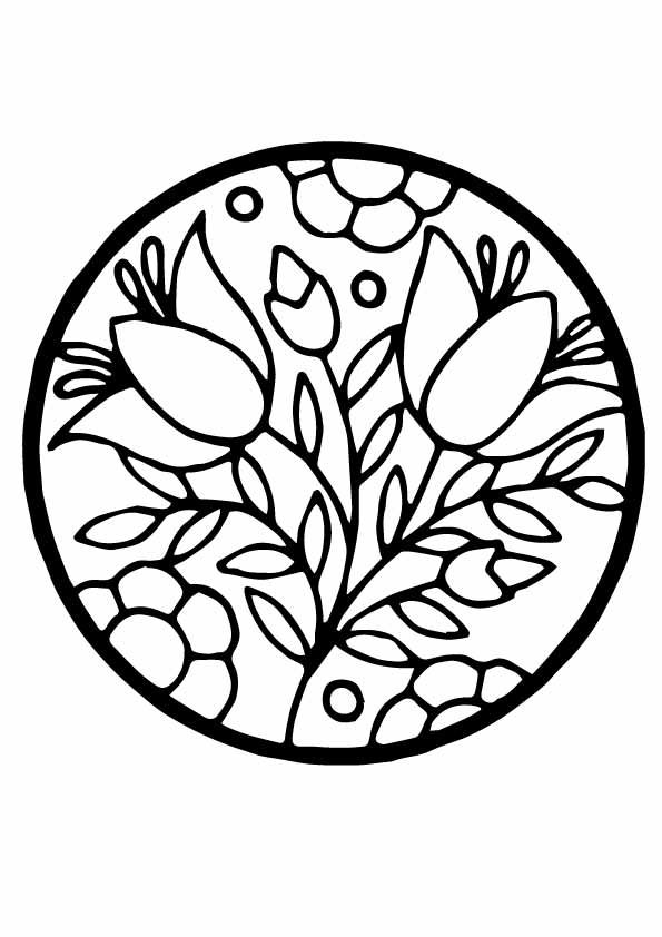 Top 25 Circle Coloring Pages For Your Toddler Flower Coloring
