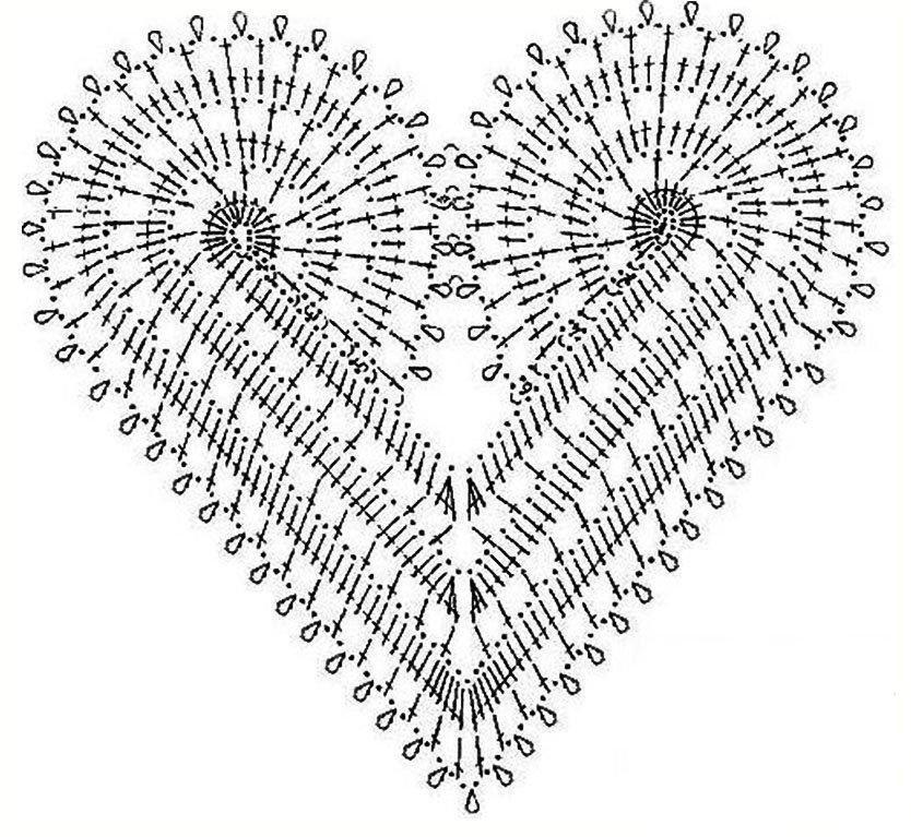 Coeurs au crochet | crochet | Pinterest | Patrones para tejer ...