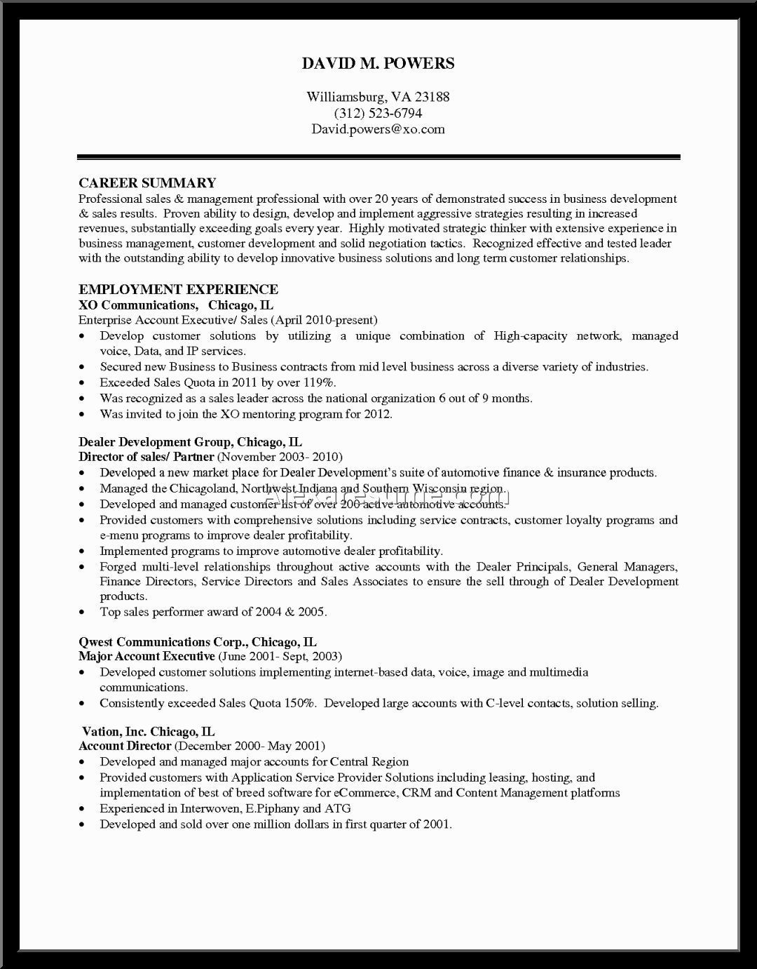 Best Resume Profile Summary Format Examples Example  Home Design