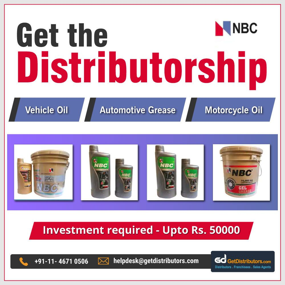 Get the #distributorship of Motorcycle Oil, Automotive