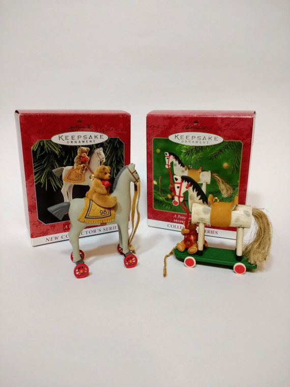 Hallmark Ornaments A Pony for Christmas  1998 1st by giantfleanme
