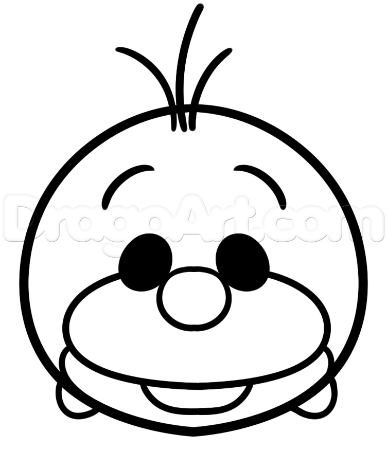 How To Draw Tsum Olaf Step By Step Disney Characters Cartoons Draw Cartoon Characters Free Online Drawin Tsum Tsum Coloring Pages Tsum Tsum Coloring Pages