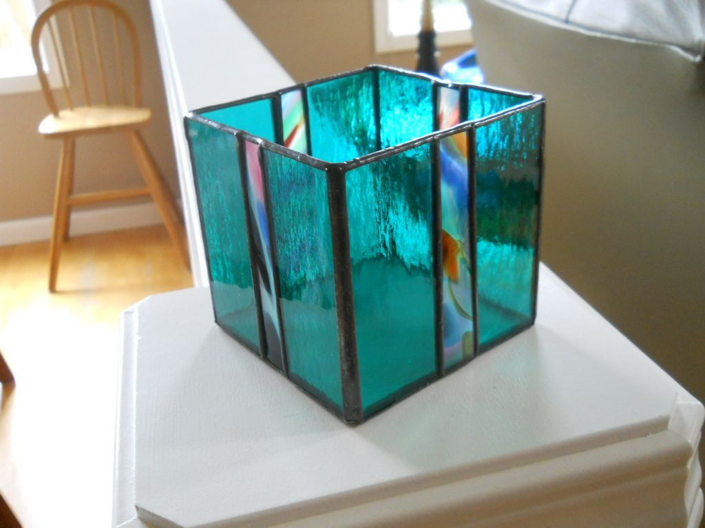 STAINED GLASS CANDLE HOLDER   The Glass Station   Candle holder ...