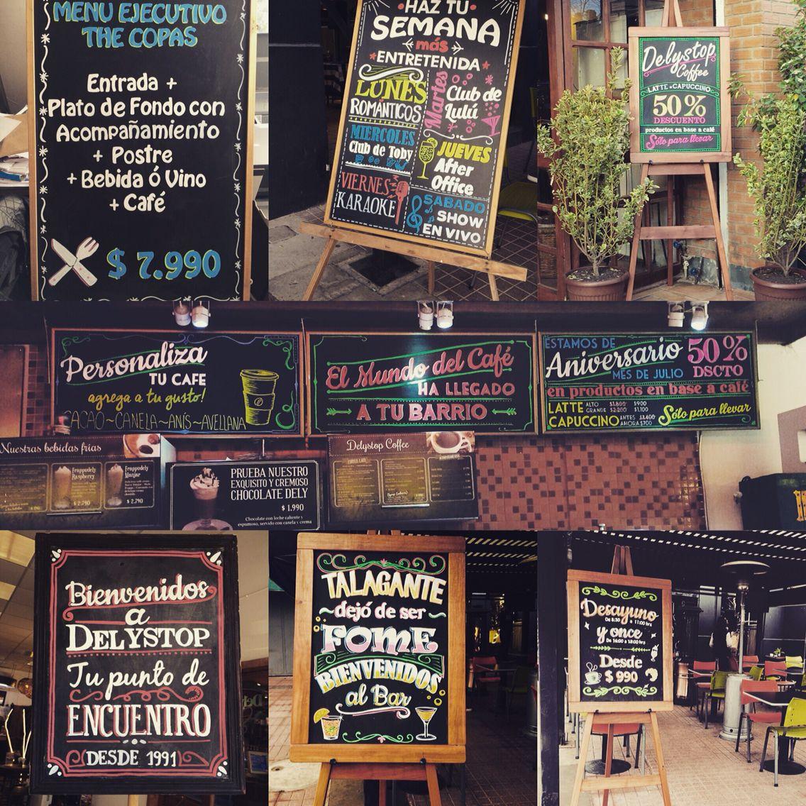 Pizarras para restaurante cafeter a y bar pizarras pinterest chalkboards - Pizarras de bar ...