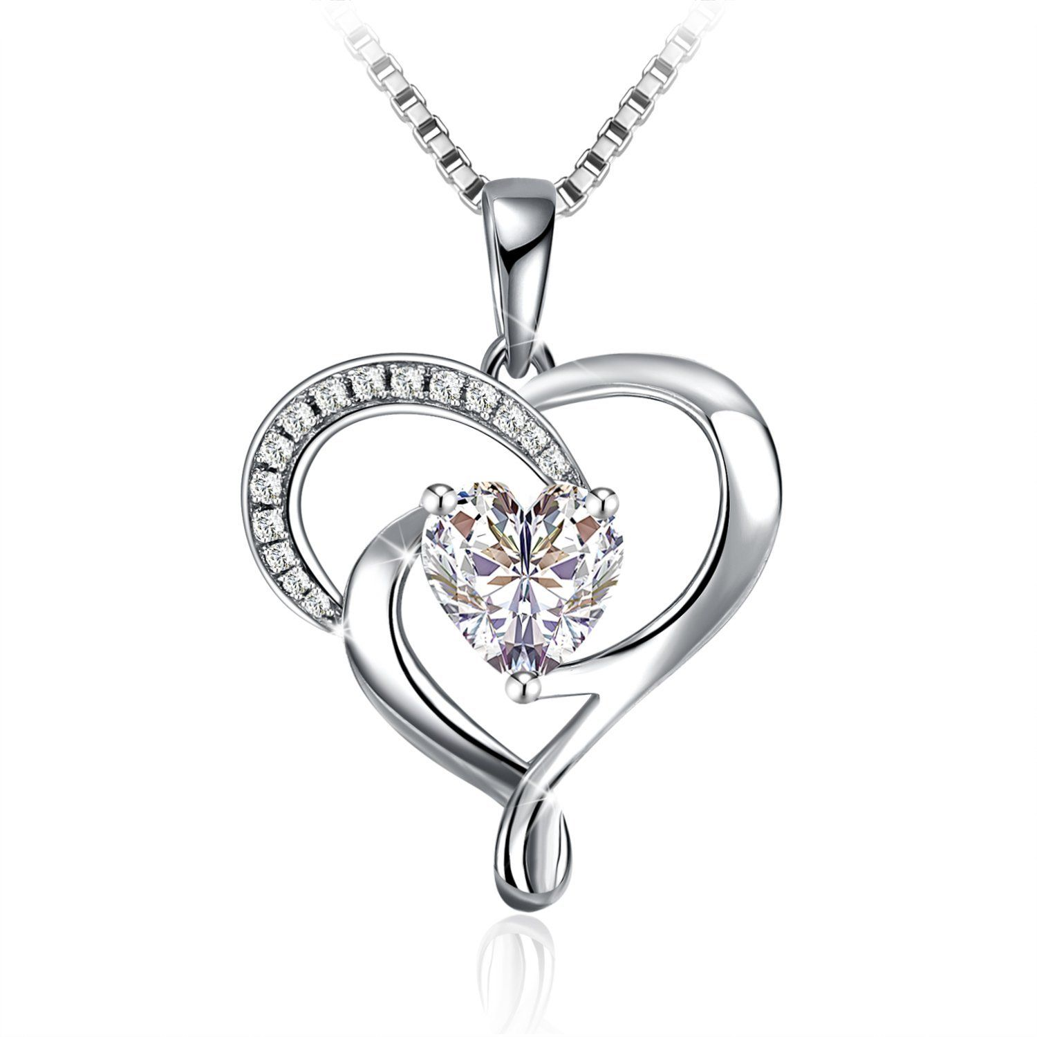 Necklace christmas gift with exquisite package sterling silver