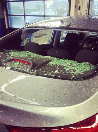 Pictures Of Hail The Size Of Baseballs And Hail Damage Auto Repair Damaged Cars Collision Repair