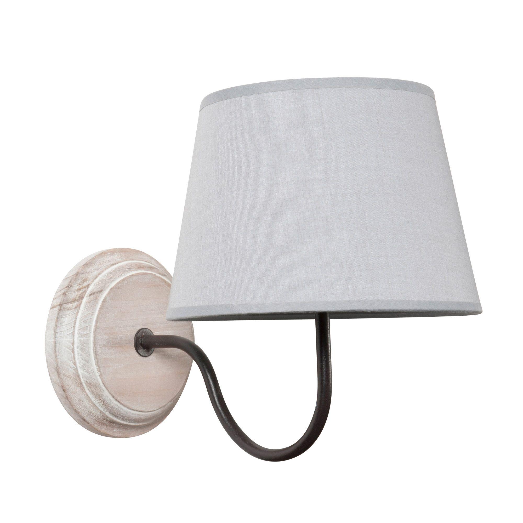 Applique en bois et tissu gris H 26 cm HéLOISE Bedroom