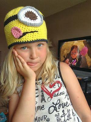 """Original pinner said, """"Crochet Patterns by Jennifer: Minion Hat - Free Crochet Pattern"""