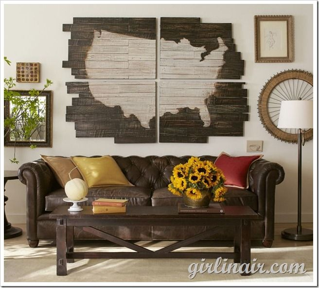 Home Of The Brave Us Map Inspired Decor