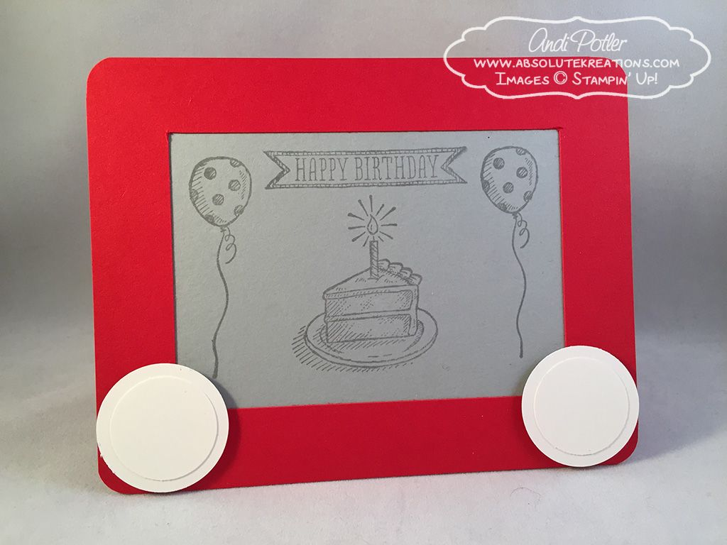 Etch a sketch birthday stampin up pinterest sketches