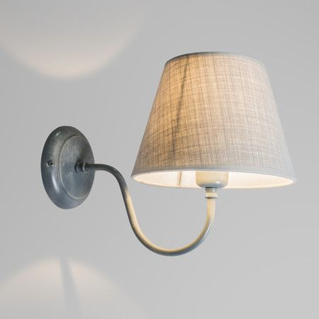 wandleuchte silea up mit schirm antik grau wandleuchten. Black Bedroom Furniture Sets. Home Design Ideas