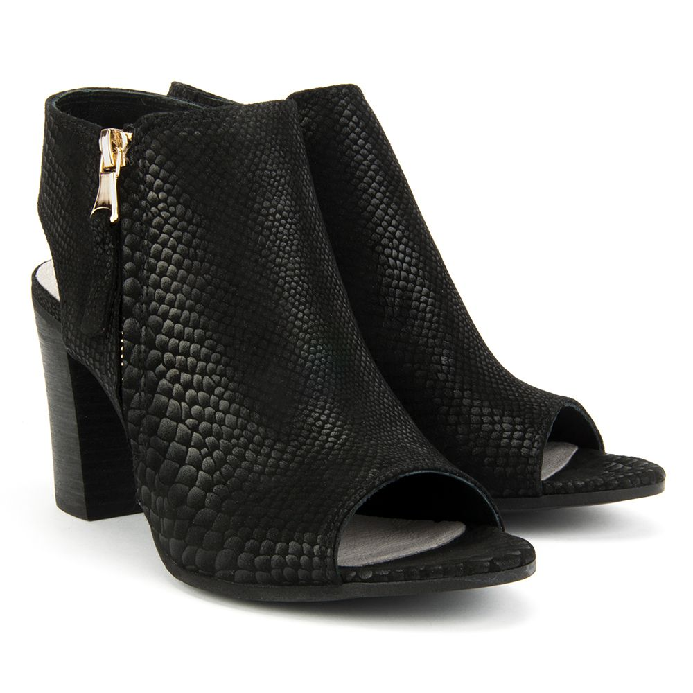 Sandaly Nessi 65205 Czarny An Sandaly Na Obcasie Sandaly Buty Damskie Filippo Pl Heels Shoes Peep Toe