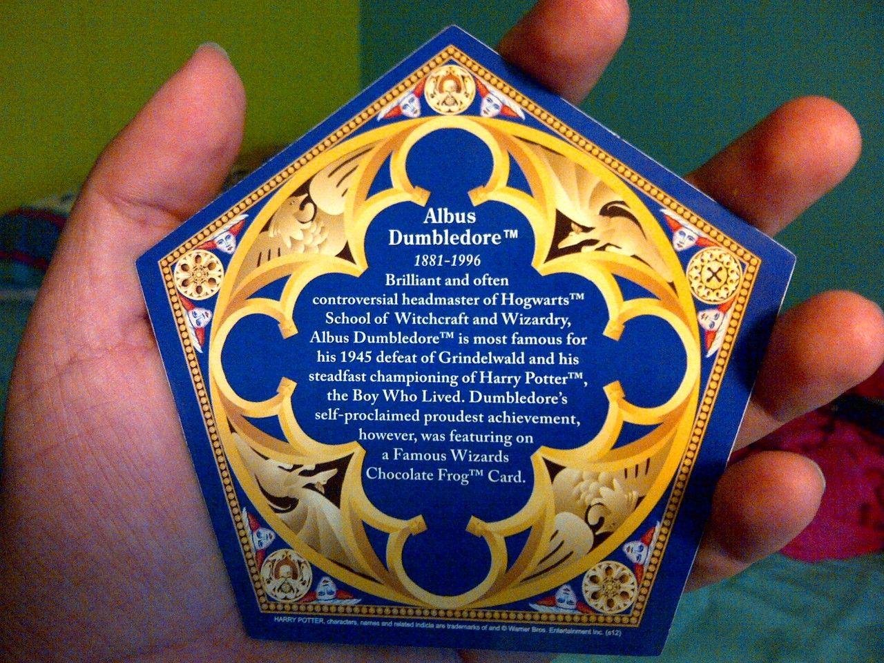Random Things I Facny My Albus Dumbledore Chocolate Frog Card Harry Potter Printables Albus Dumbledore Dumbledore