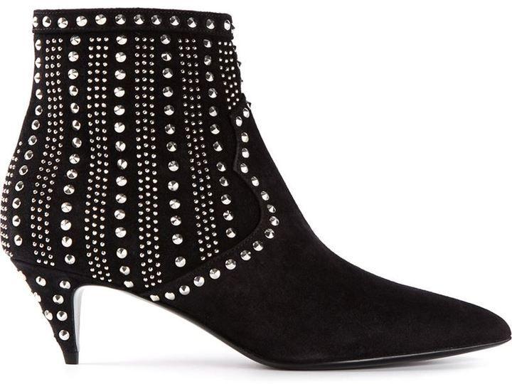 Saint Laurent  Cat 50  studded ankle boots on shopstyle.com ... 977a66af5