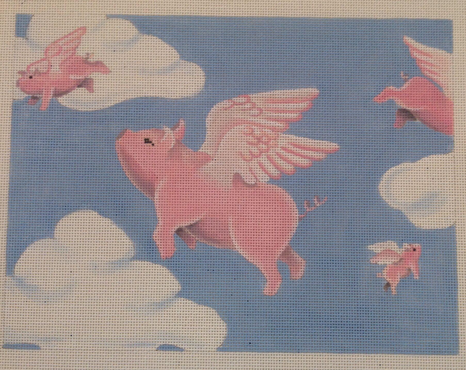 Needlepoint Canvas Pig