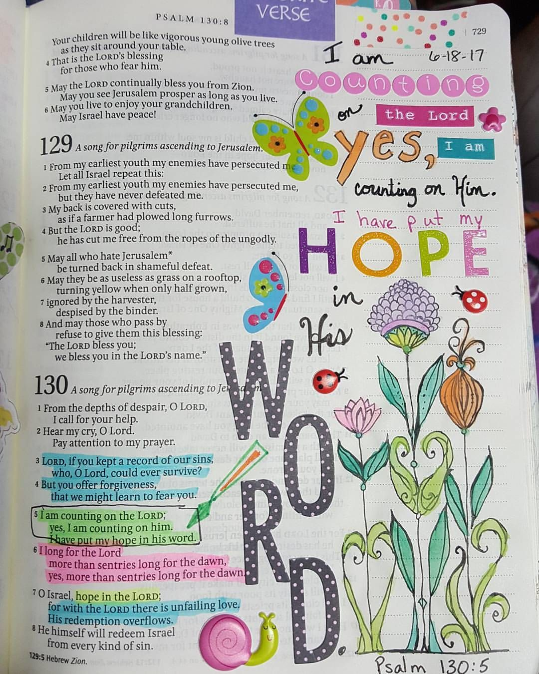 Pin by Michele Borntreger on Bible Journaling | Psalm 130, Psalms, Bible