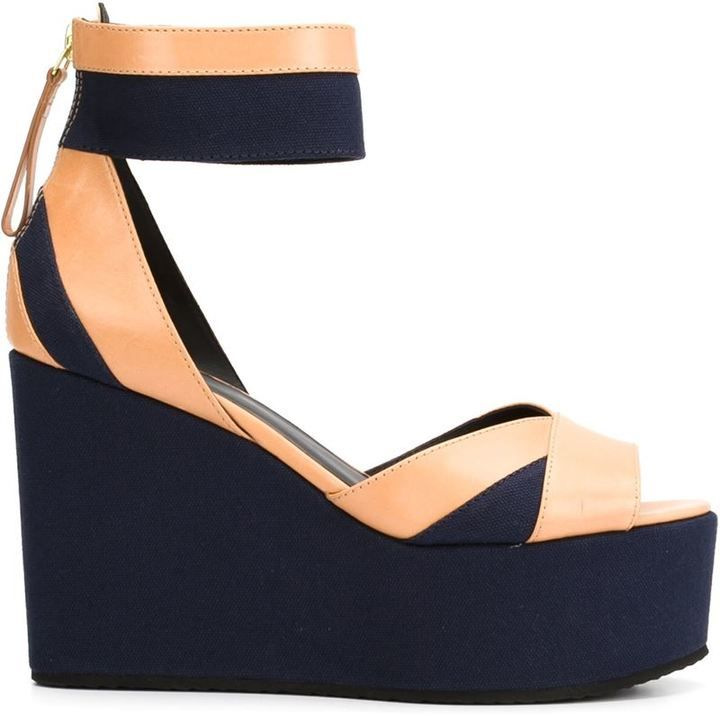 Pierre Hardy ankle strap wedge sandals