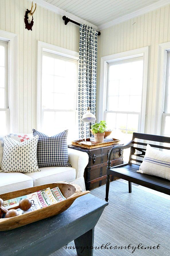 The Blue Sunroom Home Decor Country Style Homes Diy